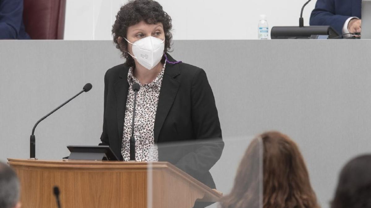 María Marín, portavoz de Unidas Podemos en la Asamblea Regional