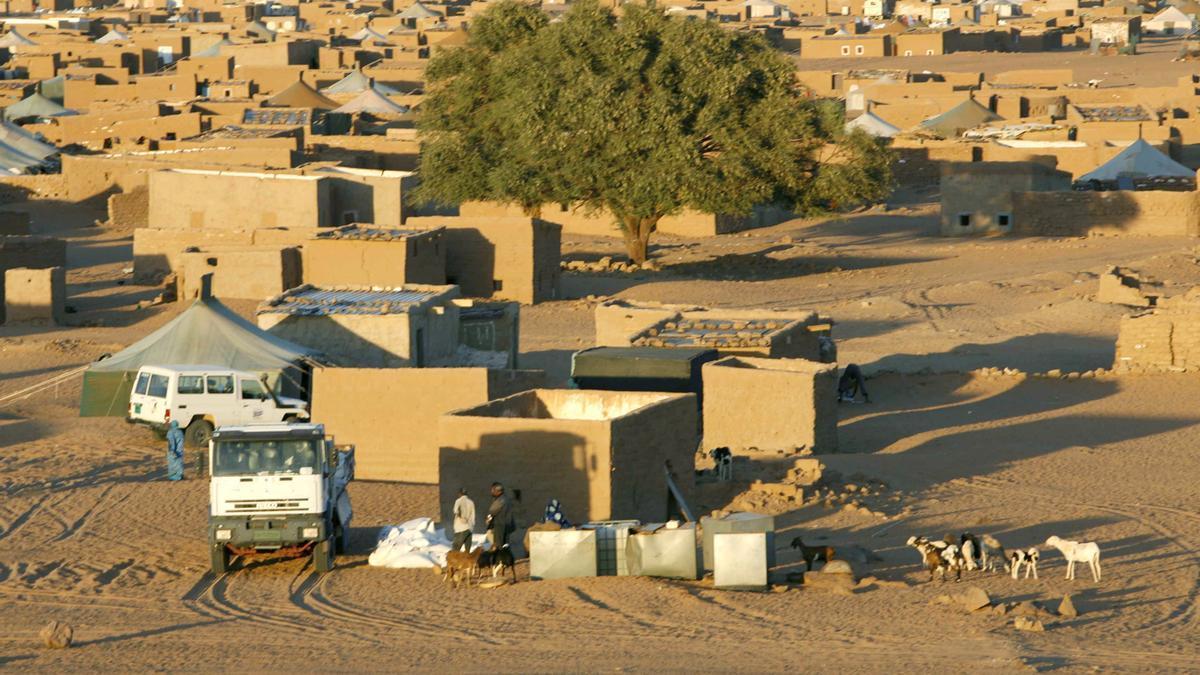 Vista general del campo de refugiados de Dajla, el más alejado de los asentamientos saharauis de Tinduf (Argelia).