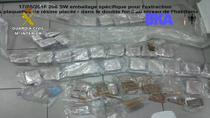 Un total de 29 detenidos en una operación internacional contra una red de tráfico de drogas y personas