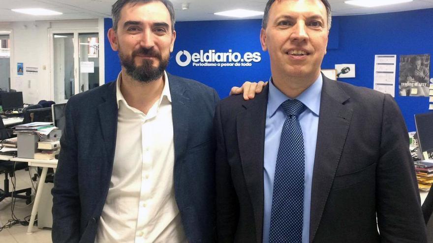 El director de eldiario.es, Ignacio Escolar, y el exportavoz de Jueces para la Democracia Joaquim Bosch