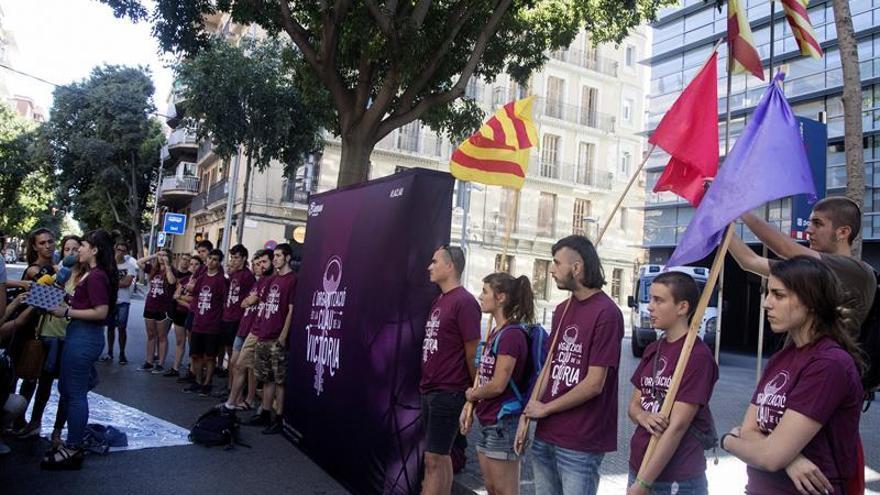 Detenido un joven por el intento de ocupación de la sede del PP en Barcelona