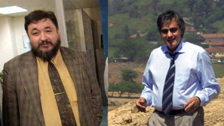 Iñigo Camino (a la izquierda) y Juan Cruz Nieves, ambos imputados por fraude a la Seguridad Social.
