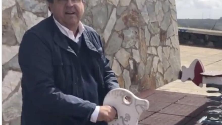 Antonio Alarcó (PP), en un vídeo publicado en Twitter.