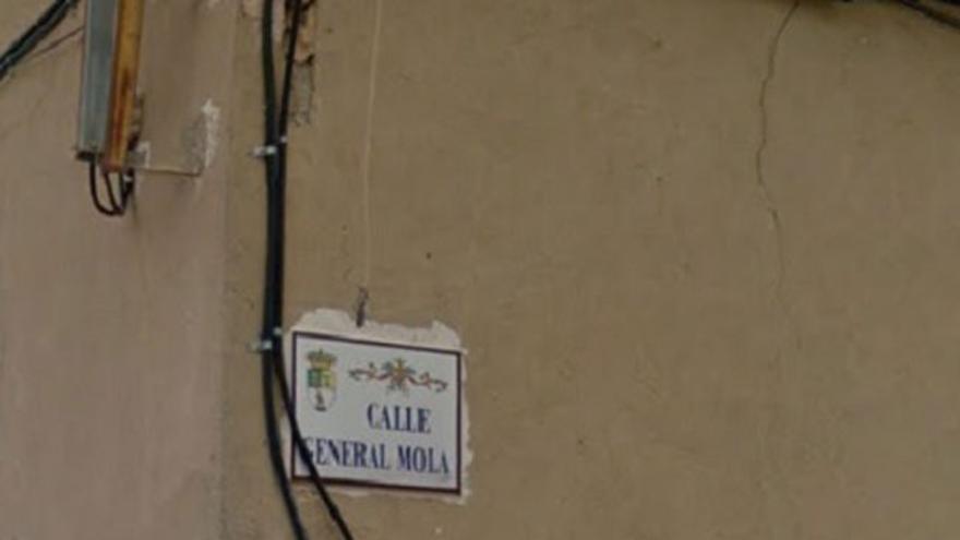 Calle del general Mola en Golosalvo (Albacete)
