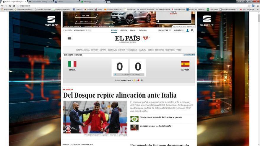 Portada de 'El País' un día después de las elecciones