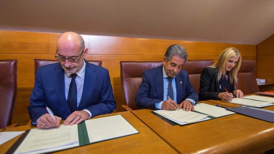 Firma del acuerdo para la aprobación del Presupuesto de Cantabria para 2019