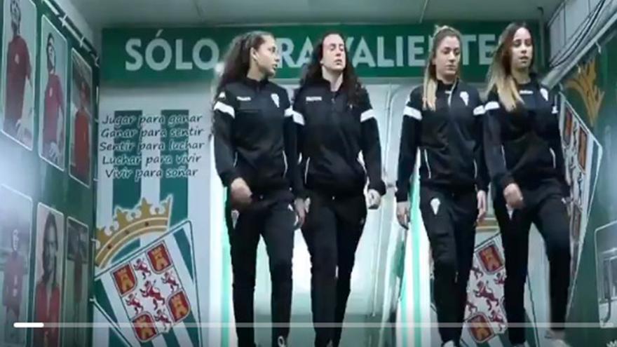 Imagen del vídeo de las jugadoras del Córdoba   CCF