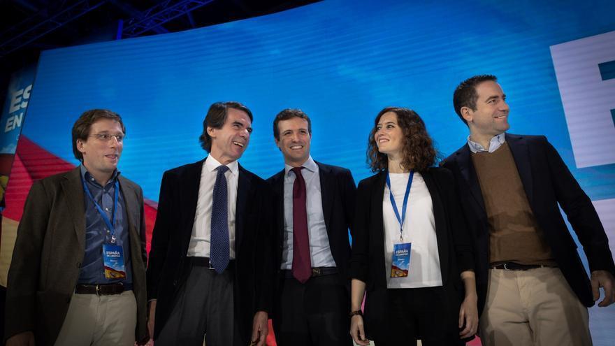 Martínez-Almeida, Aznar, Casado, Díaz Ayuso y García Egea.