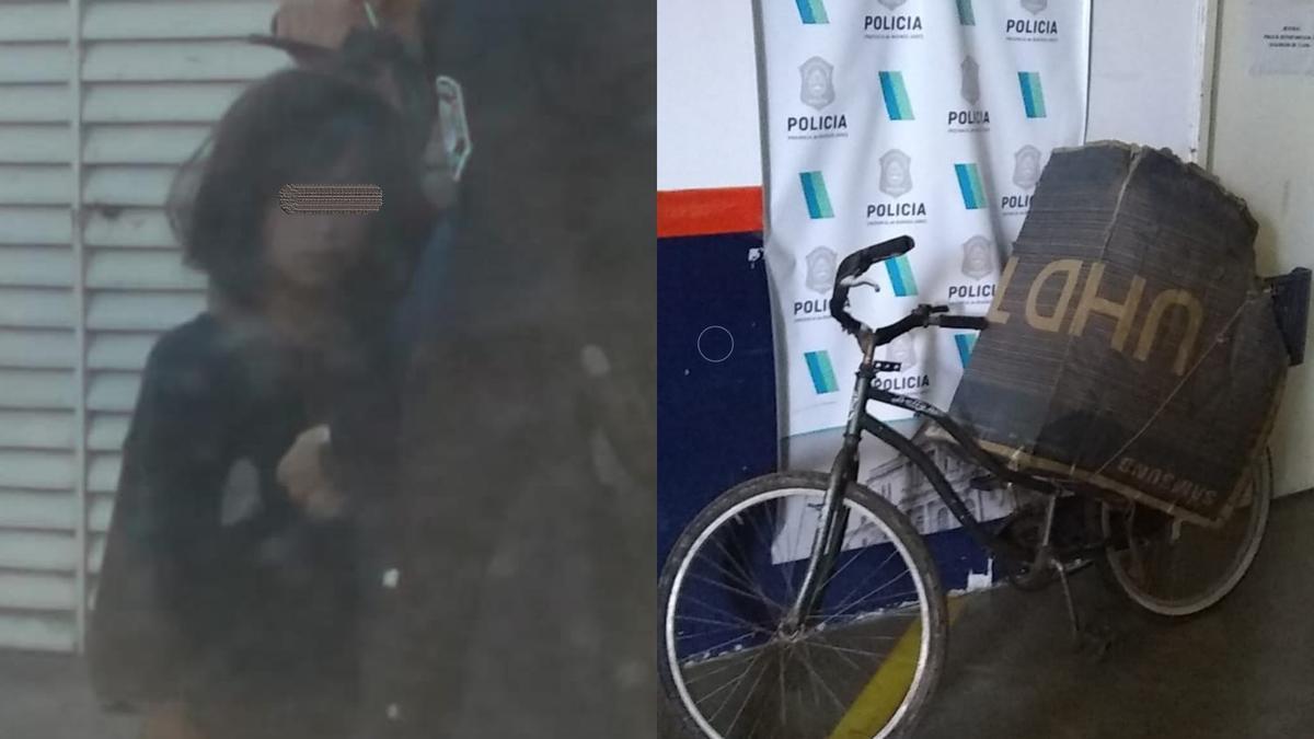 Maia estaba junto al secuestrador en esta bicicleta