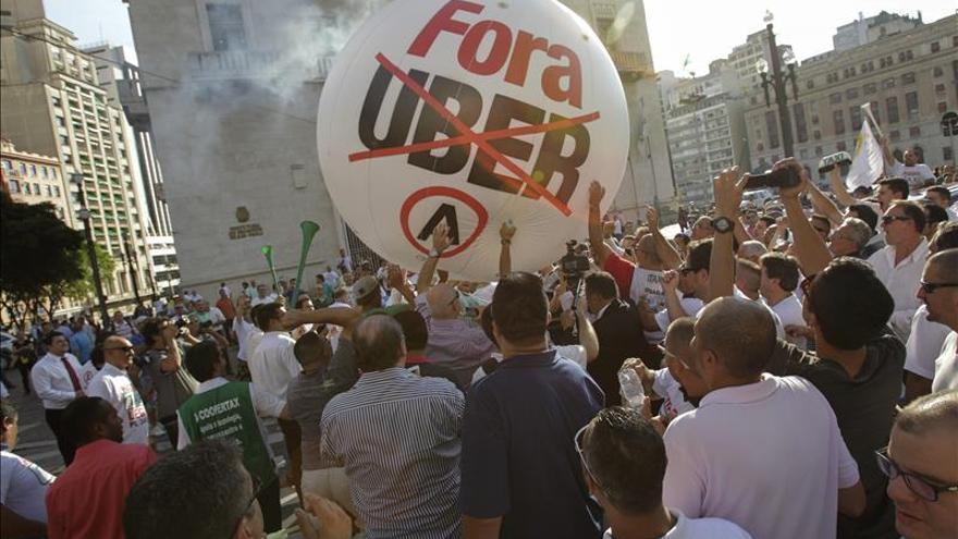 Taxistas vuelven a protestar en Río de Janeiro y Sao Paulo contra Uber