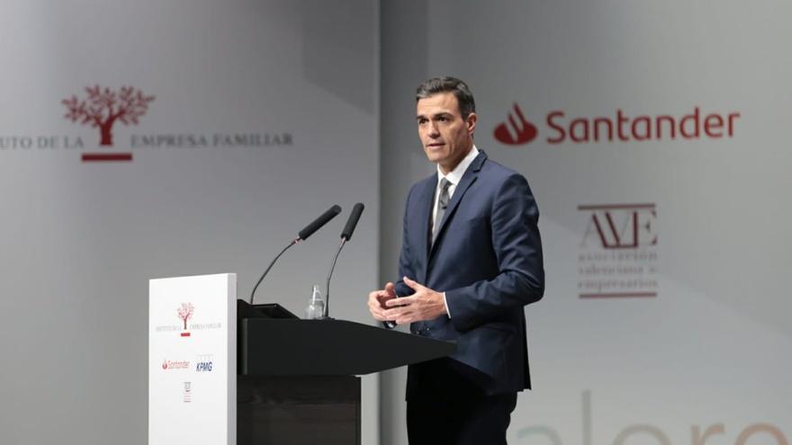El presidente del Gobierno, Pedro Sánchez, interviene en el XXI Congreso Nacional de la Empresa Familiar
