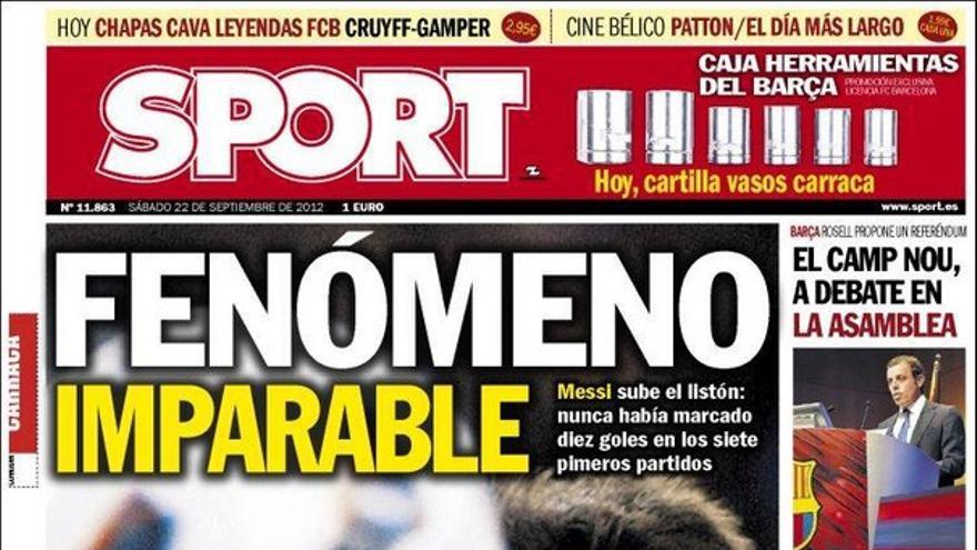 De las portadas del día (22/09/2012) #15