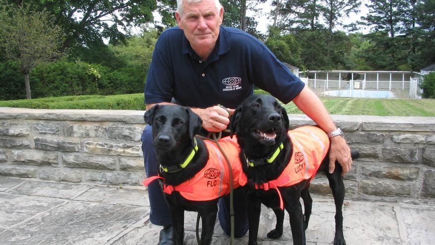 Neil Powell adiestró perros para que fueran capaces de detectar CDs y DVDs