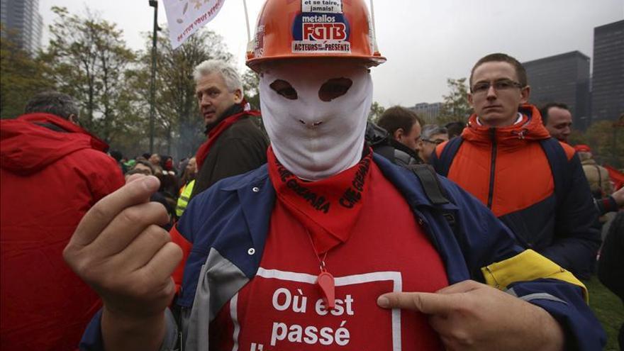 Bruselas vive una jornada de paralización por protestas contra el nuevo Gobierno