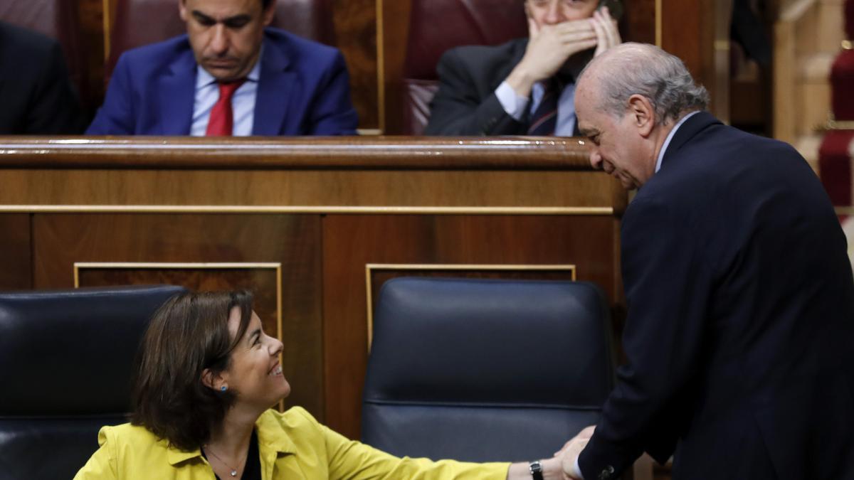 La exvicepresidenta del Gobierno Soraya Sáenz de Santamaría y Fernández Díaz cuando ella era responsable del CNI
