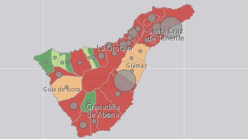 """Tenerife doblega el avance de la pandemia con una mejoría """"enorme"""" y """"única"""" en los últimos días"""
