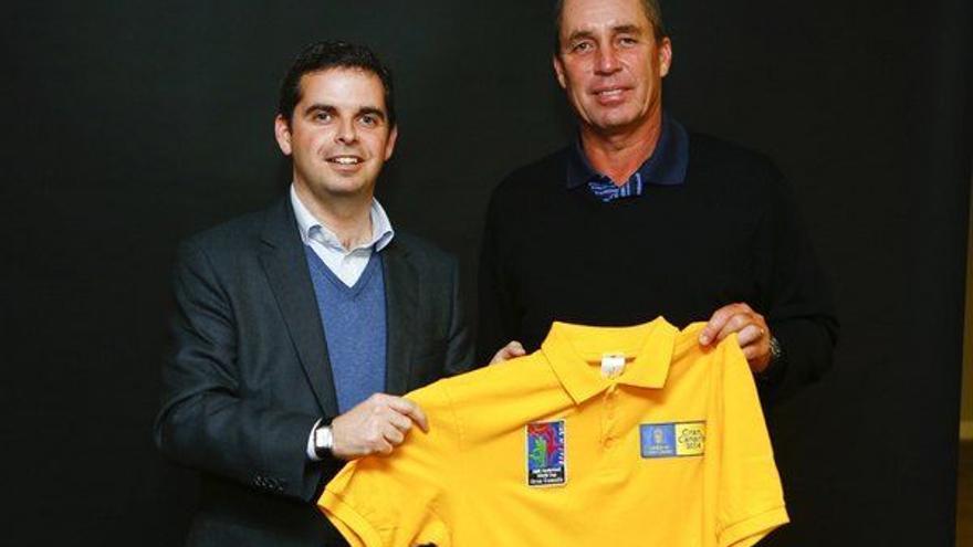 Lucas Bravo de Laguna junto a Ivan Lendl
