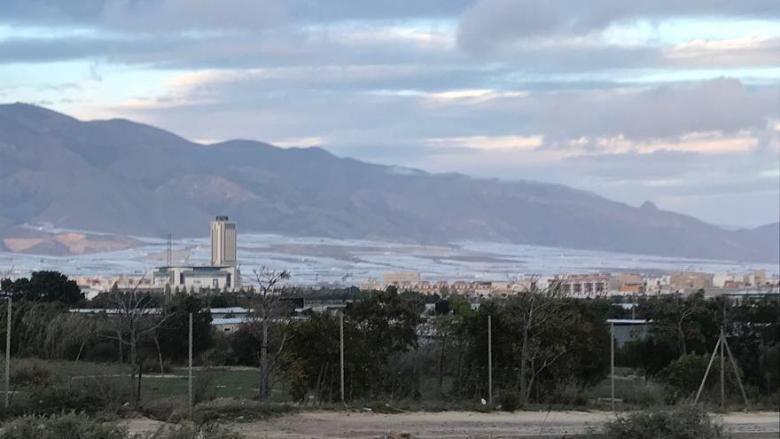 Los invernaderos rodean El Ejido y son su principal sustento económico en el Poniente de Almería.
