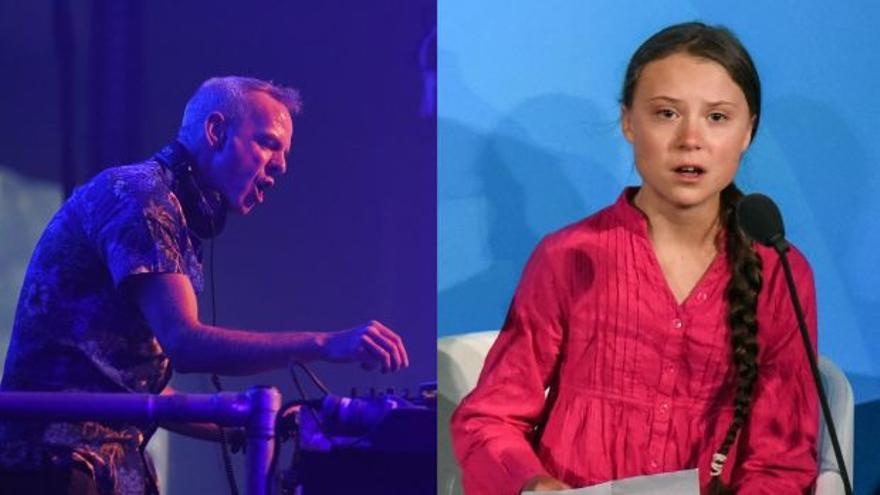 Norman Cook (Fatboy Slim) y Greta Thunberg
