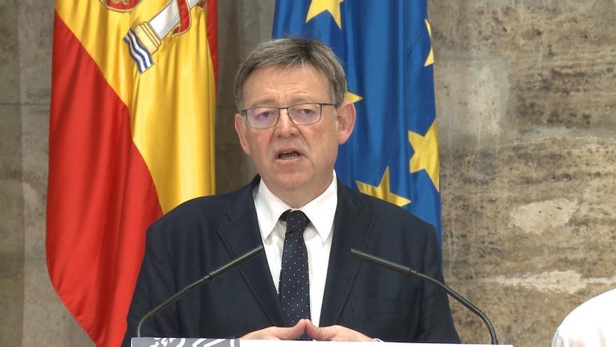 """Ximo Puig, """"preocupado"""", cree que es momento del """"sentido común y seny"""" para reconducir la situación en Cataluña"""