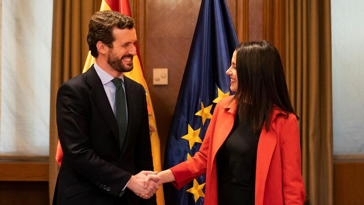 Pablo Casado e Inés Arrimadas, en una imagen de archivo.