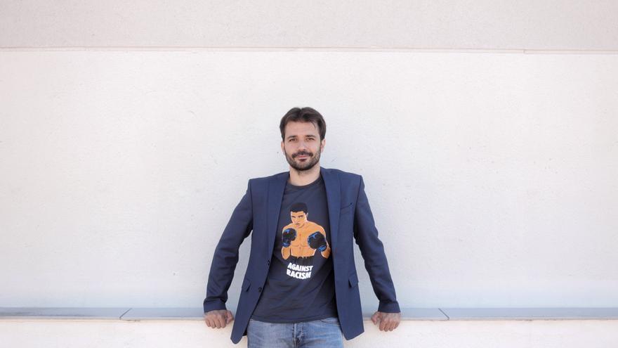 Coordinador de Podemos en la Región y diputado en el Congreso por Murcia, Javier Sánchez Serna