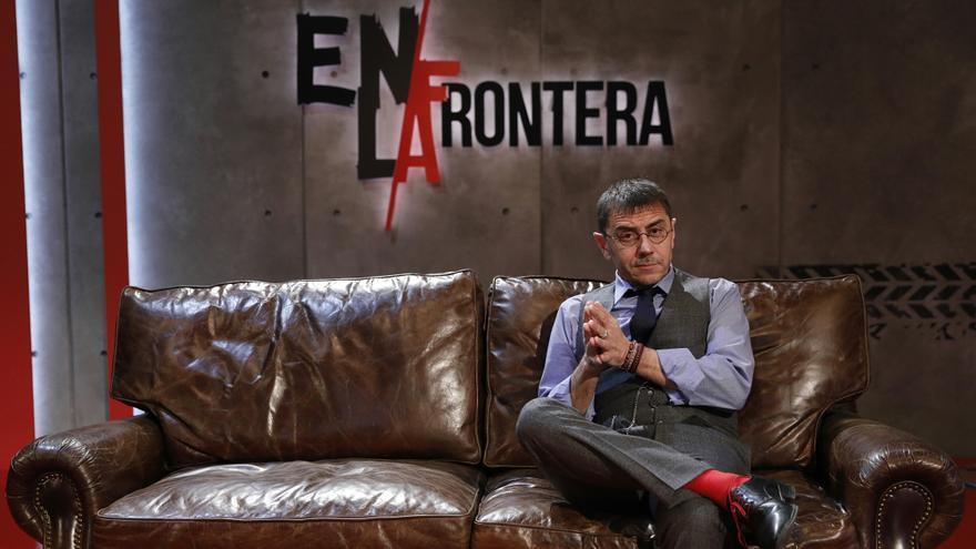 Juan Carlos Monedero durante la entrevista con eldiario.es