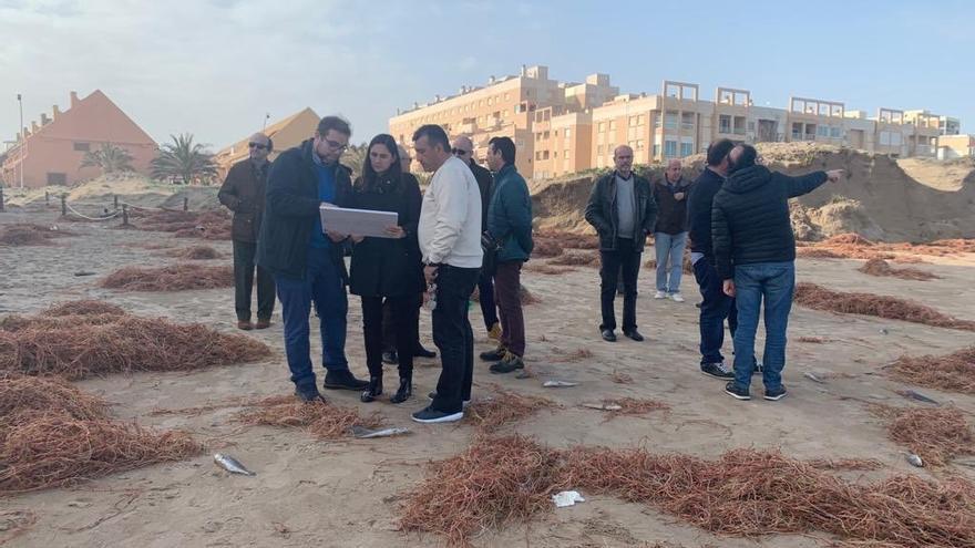 La borrasca 'Gloria' ha ocasionado daños en la fachada marítima de València