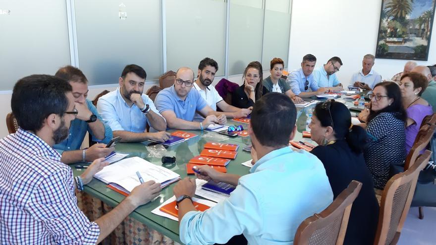 Reunión del equipo de gobierno del Ayuntamiento de La Línea