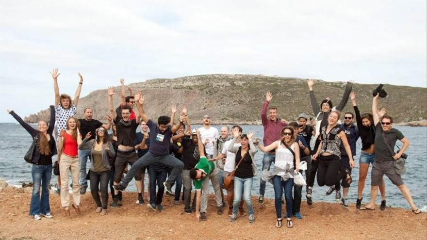 El equipo de Doist se reunió el año pasado en Menorca