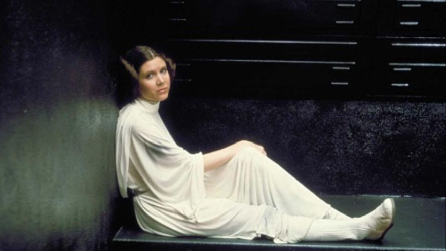 Carrie Fisher caracterizada como Princesa Leia. Foto: Instagram Star Wars