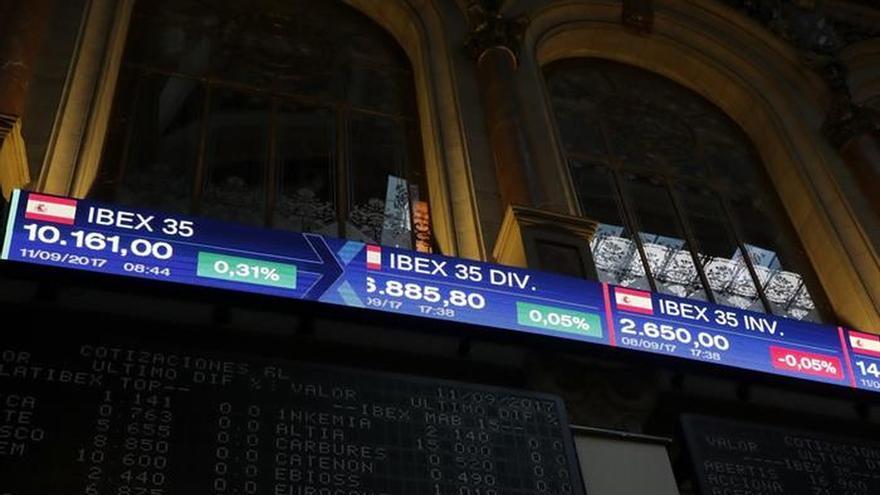 El IBEX 35 rebota un 1,61 % y se acerca a 10.300 puntos a mediodía