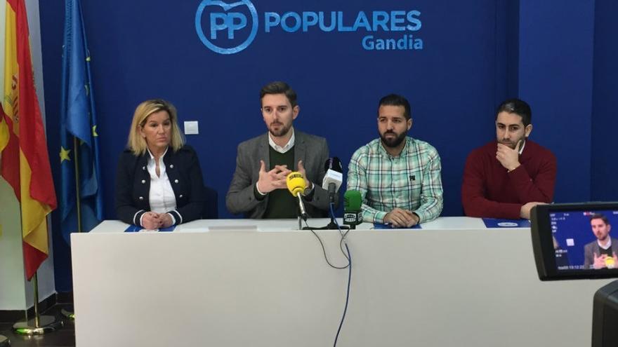 Imagen de la rueda de prensa del PP de Gandia