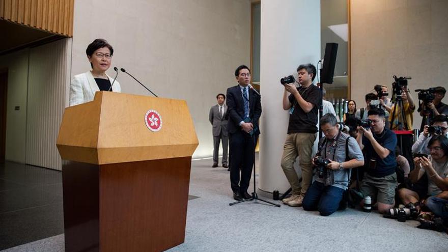 La líder hongkonesa retirará el proyecto de ley de extradición, según la prensa local