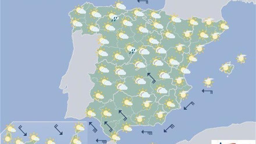 Hoy remiten las lluvias y las tormentas y suben las temperaturas