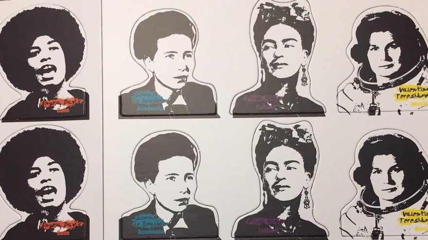 Fichas del trivial feminista 'Feminismos reunidos'