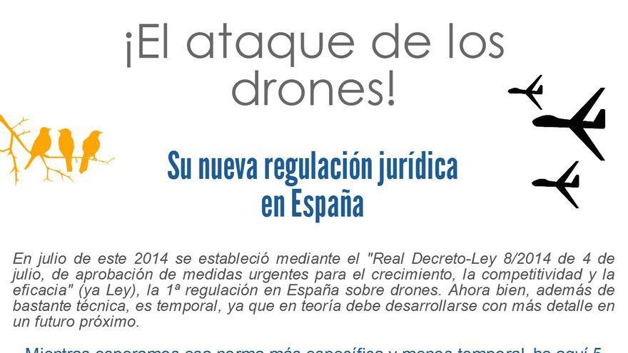 Cinco aspectos básicos en la regulación en materia de drones en España