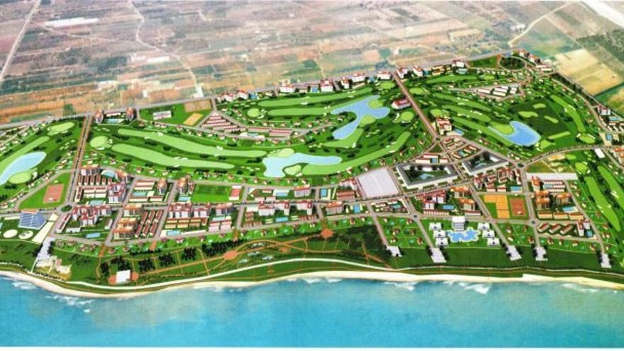 Previsualización virtual del PAI Doña Blanca Golf de Torreblanca. Ecologistas en Acción.
