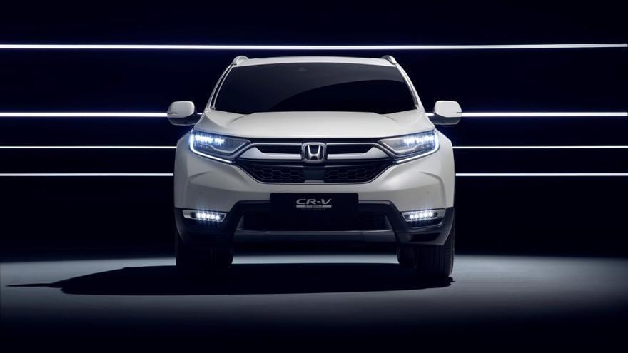 El prototipo del CR-V Hybrid conserva las líneas del SUV más vendido del mundo.