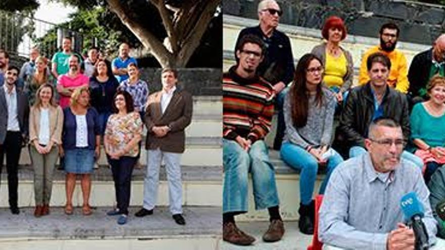 Candidaturas de Podemos y UP-IU en Canarias.