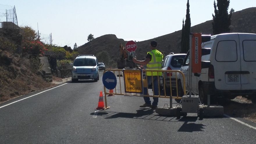 El tráfico será regulado en El Paso y Tijarafe.
