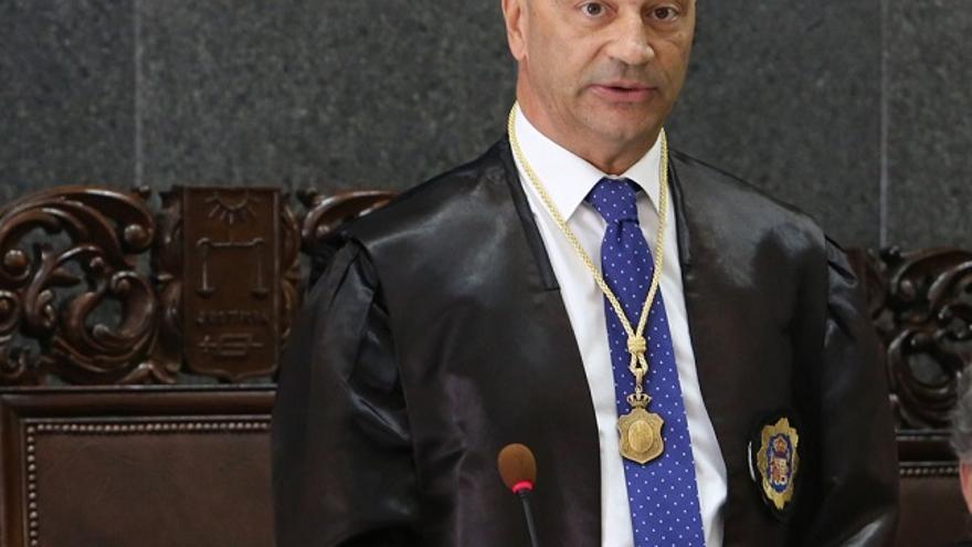 El presidente del Tribunal Superior de Justicia de Canarias, Antonio Doreste.(ALEJANDRO RAMOS)