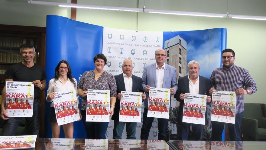 Presentación de la XVI Copa Internacional de Kárate de España que se celebrará en el Pabellón Roberto Rodríguez Estrello de Santa Cruz de La Palma los días 4 y 5 de noviembre.