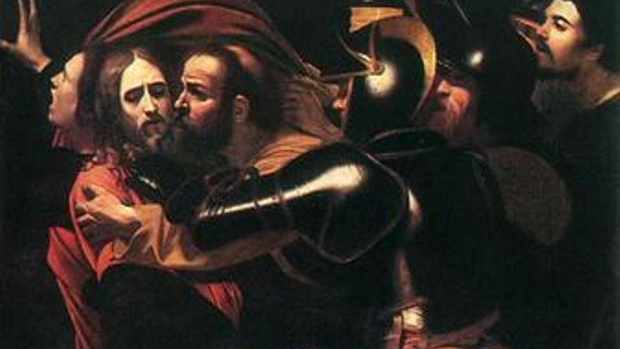 'El prendimiento de Cristo' de Caravaggio