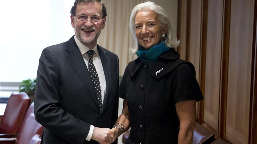 Lagarde felicita a Rajoy por su reforma laboral y de las pensiones