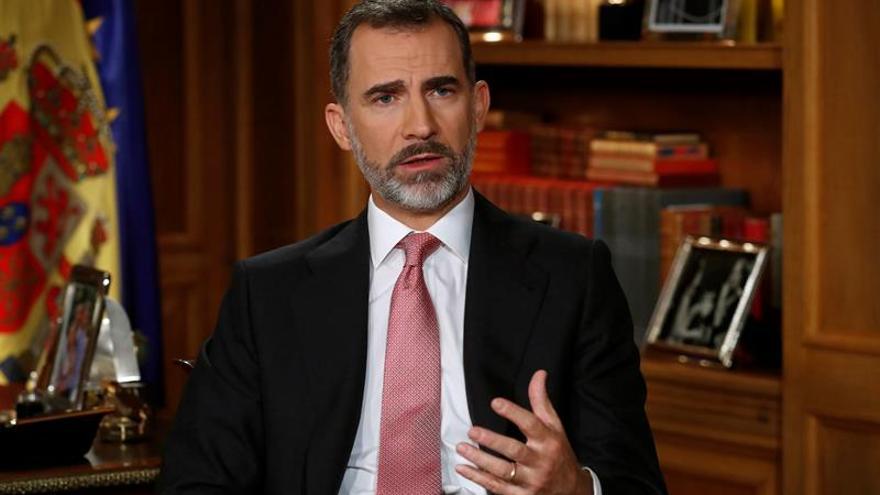 """Duro mensaje del rey contra la Generalitat: """"Se ha situado al margen de la democracia"""""""