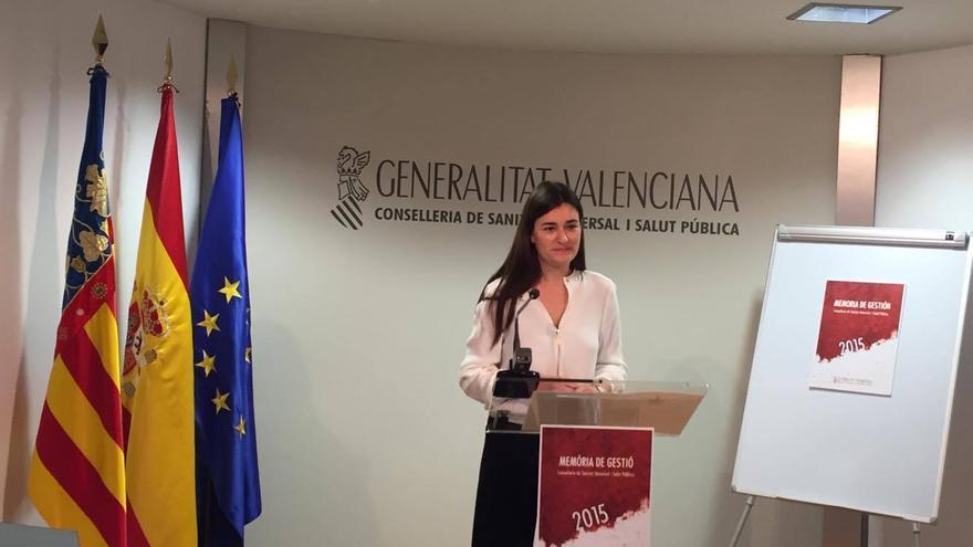 La consellera de Sanidad, Carmen Montón