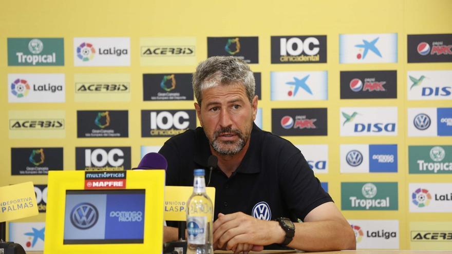 El entrenador de la UD Las Palmas, Manolo Márquez.