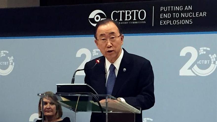 Ban Ki-moon conmemora el 20 aniversario del tratado que prohíbe las pruebas nucleares