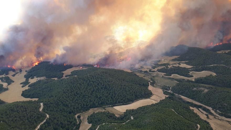 El fuego ha arrasado ya 8.000 hectáreas
